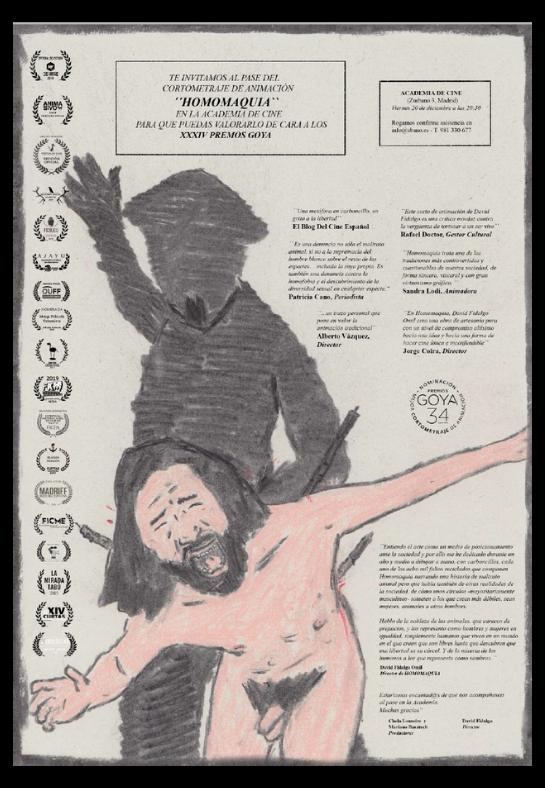Pase de Homomaquia en la Academia de Cine