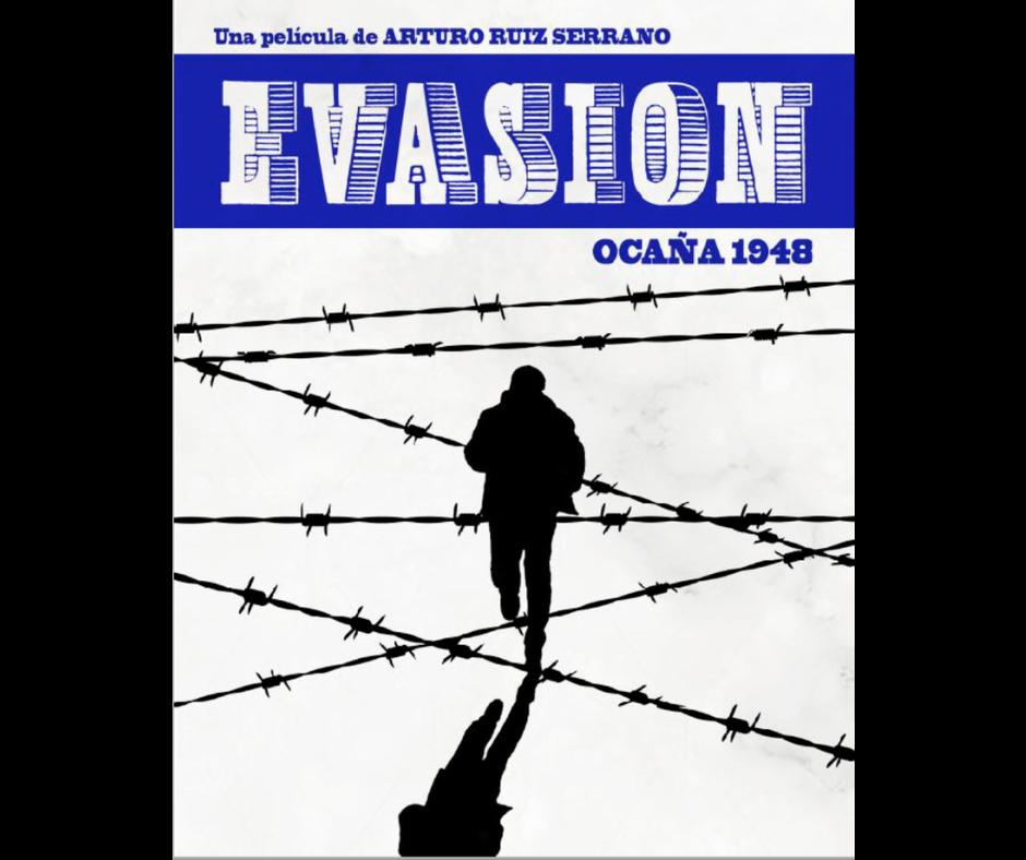 Un hombre corriendo entre alambres, Evasión , el poster